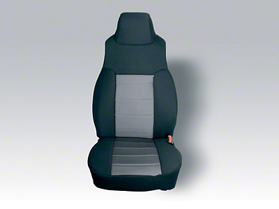 Rugged Ridge Custom Fabric Front Seat Covers - Gray/Black (97-02 Wrangler TJ)
