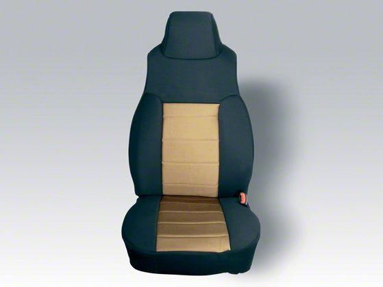 Rugged Ridge Custom Fabric Front Seat Covers - Tan/Black (03-06 Jeep Wrangler TJ)