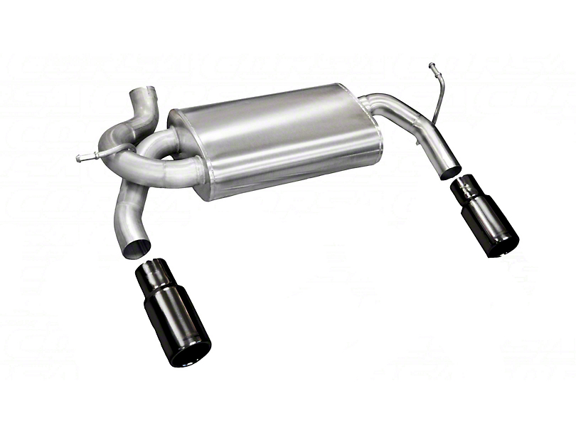 Corsa Dual Axle-Back Exhaust with Black Tips (07-18 Jeep Wrangler JK)