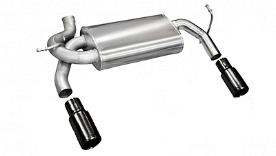 Corsa Dual Axle-Back Exhaust w/ Black Tips (07-18 Wrangler JK)