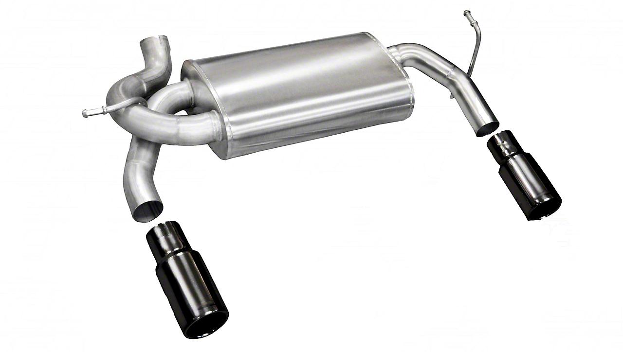 Corsa Dual Axle-Back Exhaust w/ Black Tips (07-18 Jeep Wrangler JK)