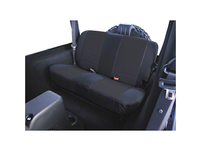 Rugged Ridge Fabric Rear Seat Cover; Black (03-06 Jeep Wrangler TJ)