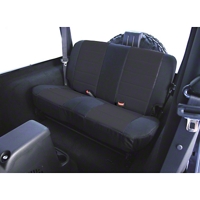 Rugged Ridge Custom Fabric Rear Seat Cover - Black (03-06 Wrangler TJ)