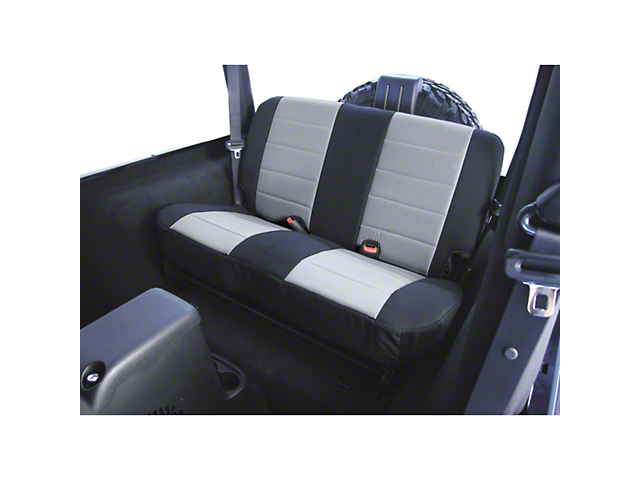 Rugged Ridge Custom Fabric Rear Seat Cover - Gray/Black (87-95 Wrangler YJ)