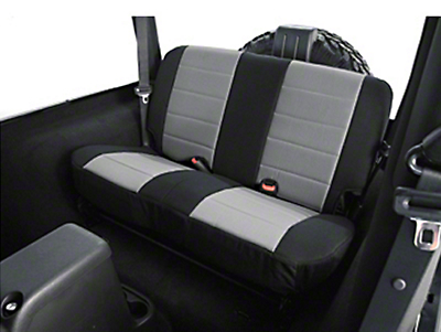 Rugged Ridge Custom Fabric Rear Seat Cover - Gray/Black (97-02 Wrangler TJ)