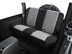 Rugged Ridge Custom Fabric Rear Seat Cover - Gray/Black (97-02 Jeep Wrangler TJ)