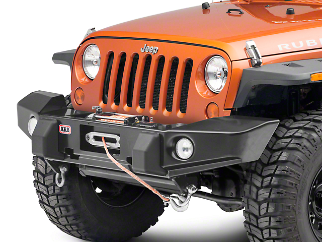 ARB Winch Front Bumper - Satin Black (07-18 Jeep Wrangler JK)