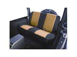 Rugged Ridge Custom Fabric Rear Seat Cover - Tan/Black (87-95 Jeep Wrangler YJ)