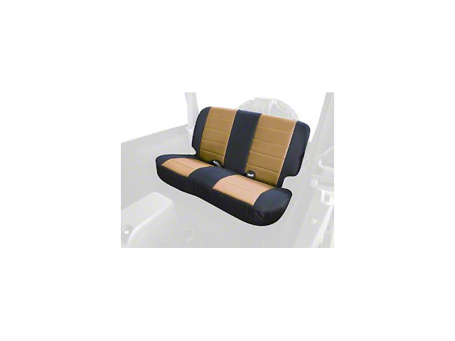 Rugged Ridge Custom Fabric Rear Seat Cover - Tan/Black (97-02 Wrangler TJ)