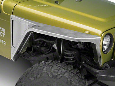 Poison Spyder 3 in. Front DeFender XC Tapered Fender Flares - Bare Steel (97-06 Jeep Wrangler TJ)