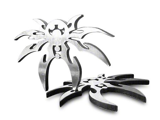 Poison Spyder Chrome Spyder Emblem (87-18 Wrangler YJ, TJ, JK & JL)
