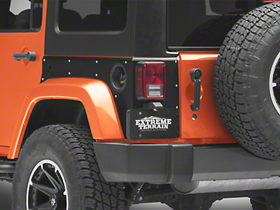 Poison Spyder Crusher Corners w/ OEM Tail Lights Cutouts - SpyderShell Armor Coat (07-18 Jeep Wrangler JK 4 Door)