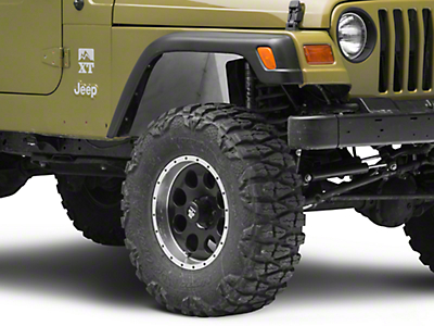 Poison Spyder DeFender Solid Inner Fender Kit - Bare Steel (97-06 Jeep Wrangler TJ)