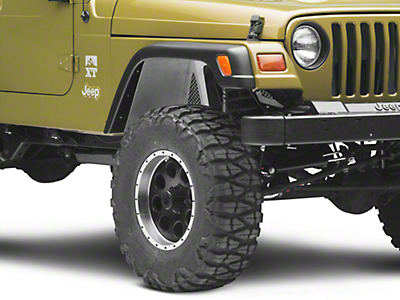 Poison Spyder DeFender Vented Inner Fender Kit - Bare Steel (97-06 Jeep Wrangler TJ)
