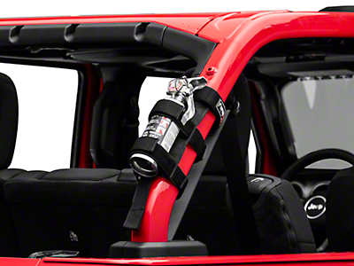 Poison Spyder Fire Extinguisher Holder (87-18 Jeep Wrangler YJ, TJ, JK & JL)