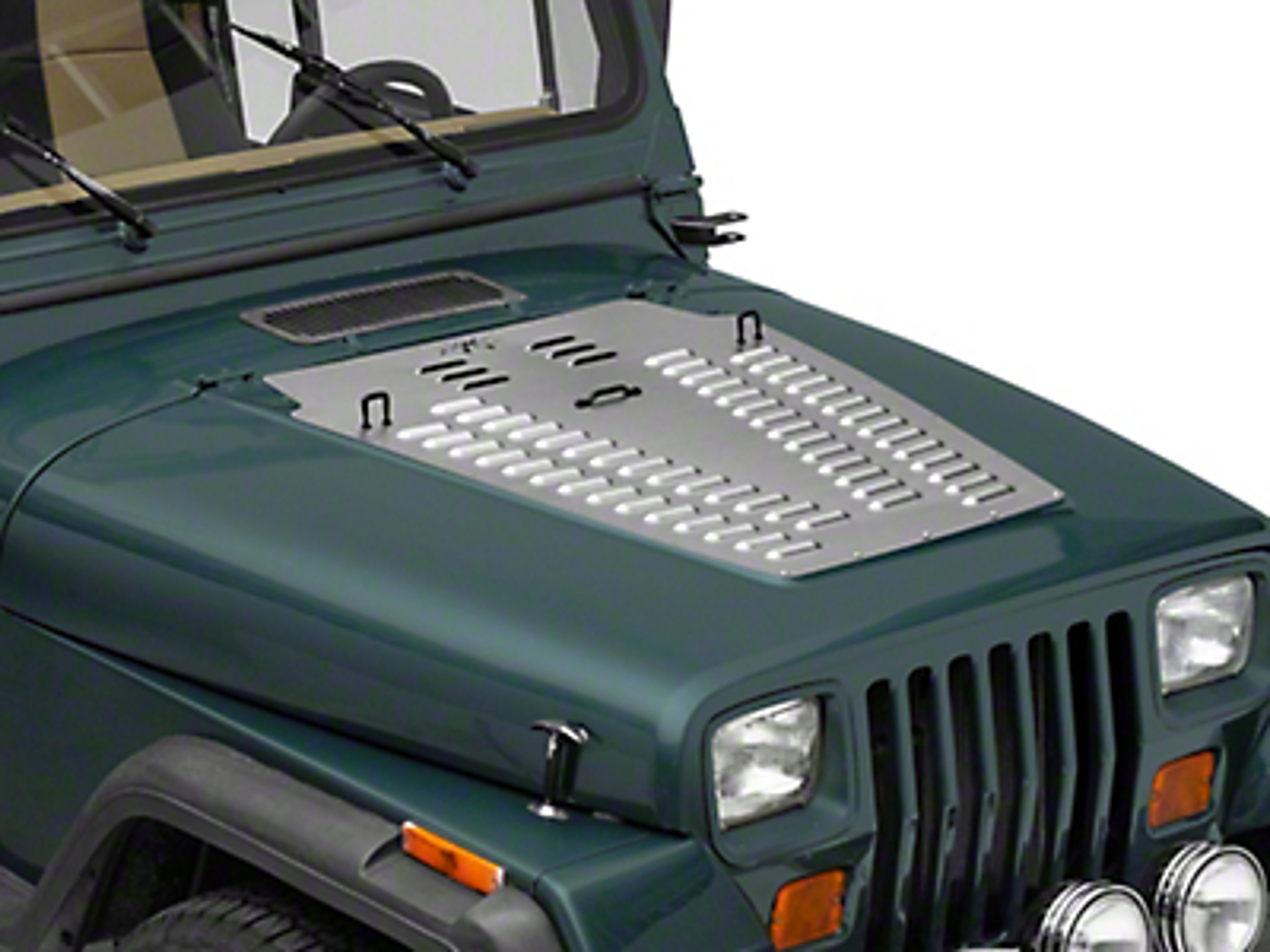Poison Spyder Hood Louver - Bare Steel (87-95 Jeep Wrangler YJ)