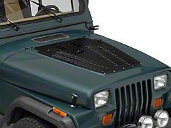 Poison Spyder Hood Louver; Black (87-95 Jeep Wrangler YJ)