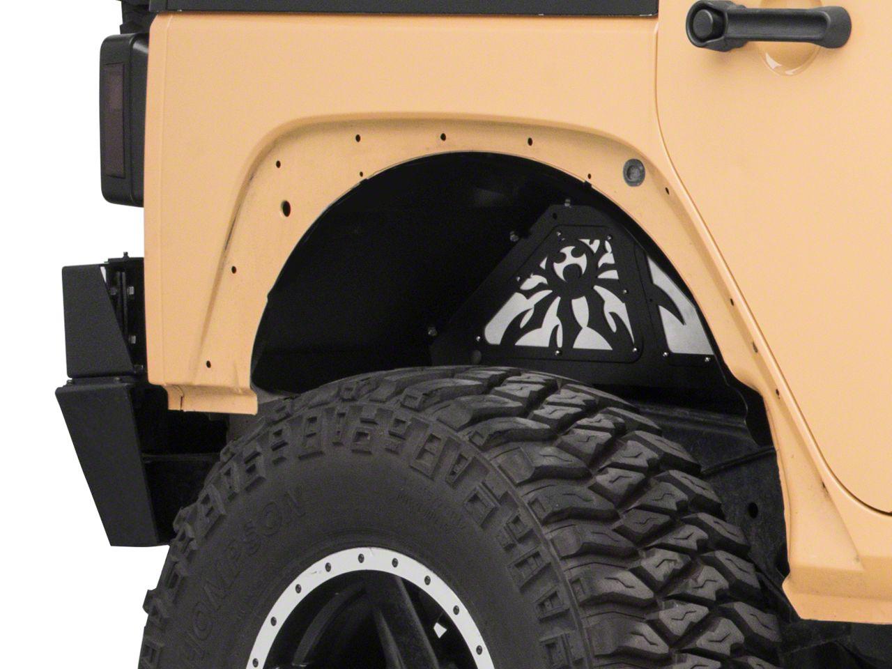Poison Spyder Rear Inner Fender Kit - SpyderShell Armor Coat (07-18 Jeep Wrangler JK)
