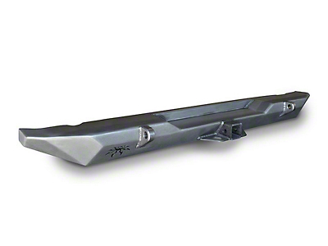 Poison Spyder RockBrawler Rear Bumper w/ Tabs - Bare Steel (97-06 Jeep Wrangler TJ)