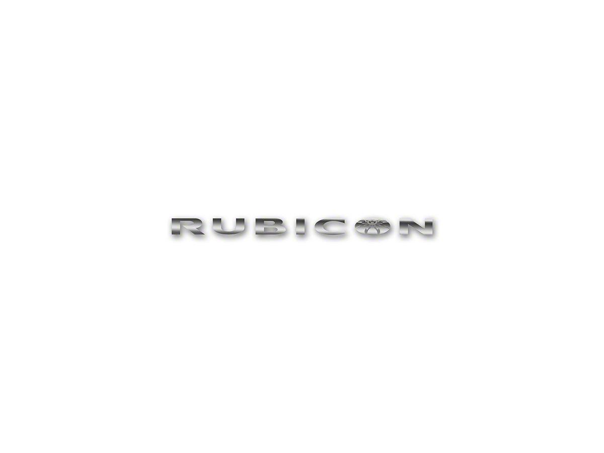 Poison Spyder Rubicon Spyder Hood Side Decal - Silver (87-20 Jeep Wrangler  YJ, TJ, JK & JL)