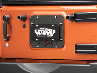 Poison Spyder Tramp Stamp II w/ License Plate Mount - Wide Vent (07-18 Wrangler JK)
