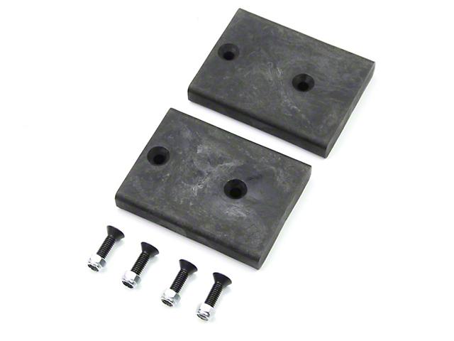 Teraflex SpeedBump 0.75 in. Rear Lower Bump Stop Pad Kit (07-18 Jeep Wrangler JK)