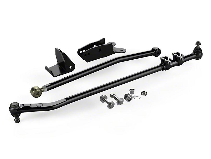 Teraflex Drag Link Flip Kit w/ Front Track Bar Drop Bracket & Frame Brace Kit (07-18 Jeep Wrangler JK)