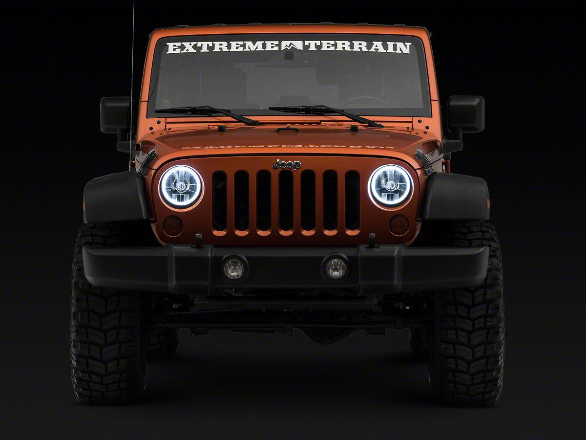 Delta 7 in  H I D  Headlights w/ Halos (07-18 Jeep Wrangler JK)