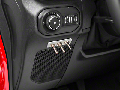Delta Switch Plate Aluminum w/ 3 Switches (87-18 Wrangler YJ, TJ, JK & JL)