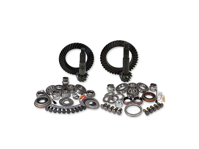 Yukon Gear Dana 30 Front Axle/35 Rear Axle Ring Gear and Pinion Kit w/ Install Kit - 4.56 Gears (97-06 Jeep Wrangler TJ, Excluding Rubicon)