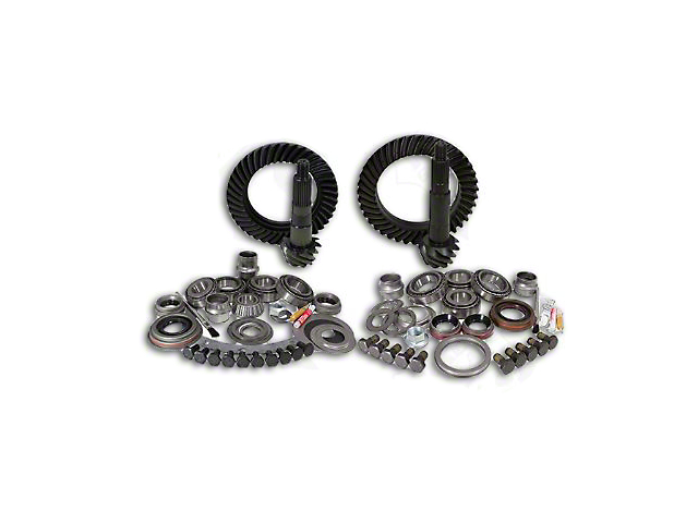 Yukon Gear Dana 30 Front Axle/35 Rear Axle Ring Gear and Pinion Kit w/ Install Kit - 4.88 Gears (97-06 Jeep Wrangler TJ, Excluding Rubicon)
