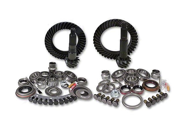 Yukon Gear Dana 30 Front Axle/44 Rear Axle Ring Gear and Pinion Kit w/ Install Kit - 4.56 Gears (97-06 Jeep Wrangler TJ, Excluding Rubicon)