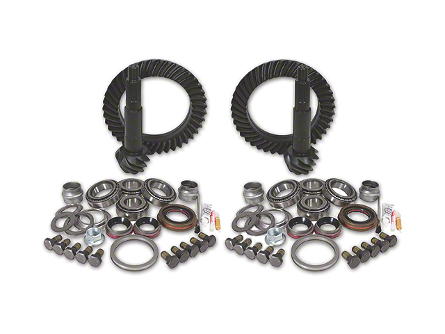 Yukon Gear Dana 44 Front Axle/44 Rear Axle Ring Gear and Pinion Kit w/ Install Kit - 4.56 Gears (07-18 Jeep Wrangler JK Rubicon)