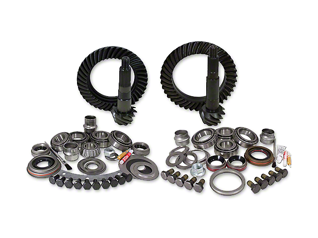 Yukon Gear Dana 30 Front Axle/44 Rear Axle Ring and Pinion Gear Kit with Install Kit; 4.56 Gear Ratio (07-18 Jeep Wrangler JK, Excluding Rubicon)