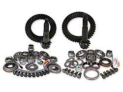 Yukon Gear Dana 30 Front Axle/44 Rear Axle Ring Gear and Pinion Kit w/ Install Kit - 4.56 Gears (07-18 Jeep Wrangler JK, Excluding Rubicon)