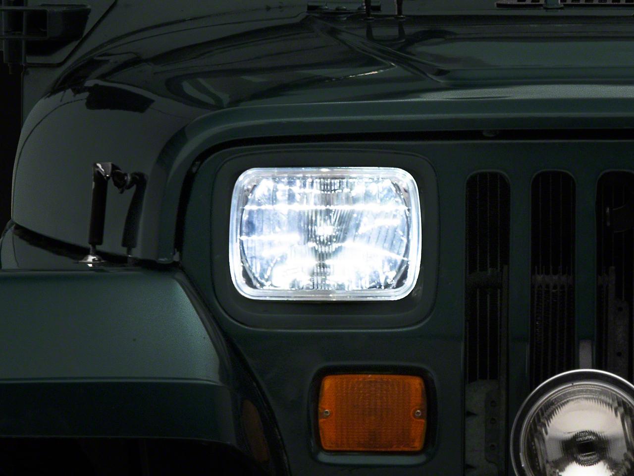 Delta Rectangular LED Conversion Headlights (87-95 Jeep Wrangler YJ)