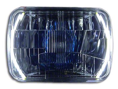 Delta Rectangular LED Conversion Headlights w/ Halos (87-95 Jeep Wrangler YJ)