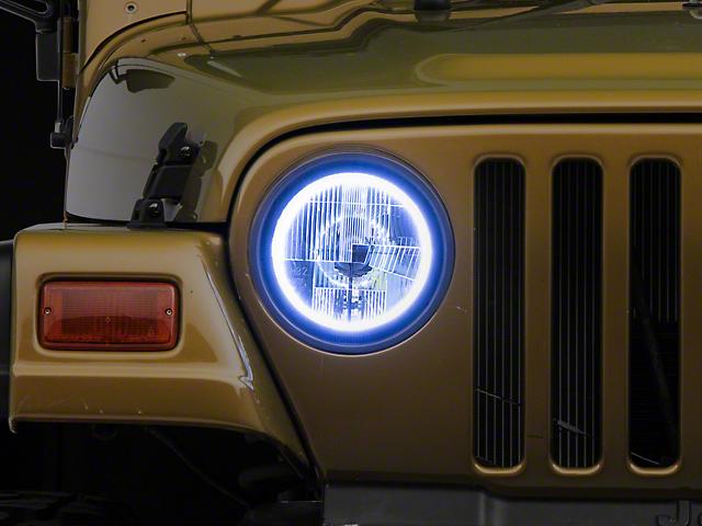 Delta Quad-Bar LED Headlights w/ Halos (97-06 Jeep Wrangler TJ)