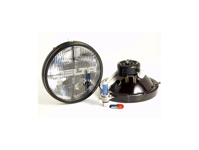 Delta Quad-Bar Xenon Headlights w/ Blinkers (97-06 Jeep Wrangler TJ)