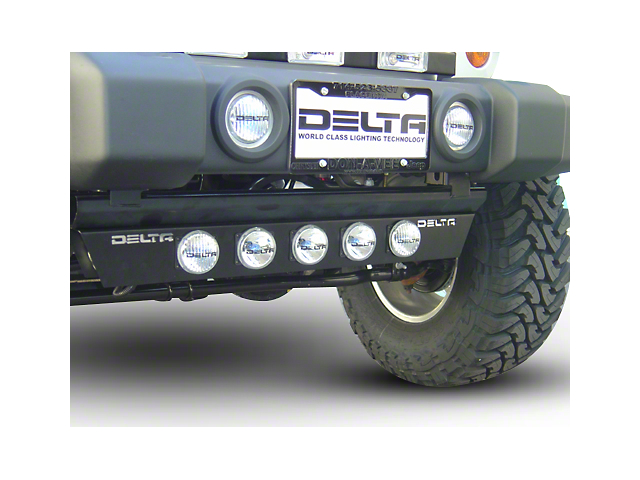 Delta Combo Xenon Ground Light Bar w/ Rock Crawling Lights (97-20 Jeep Wrangler TJ, JK & JL)