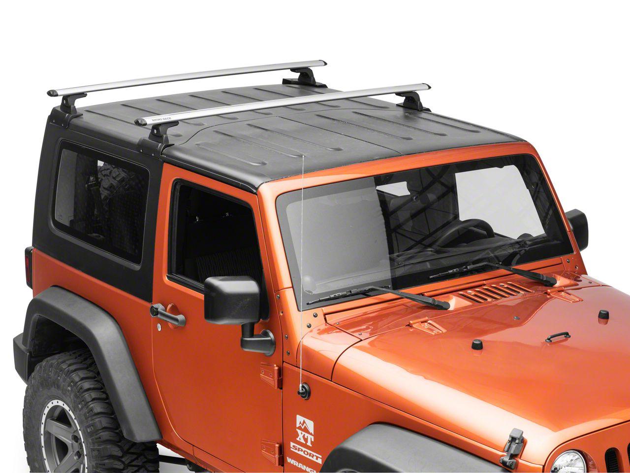 Rhino Rack Jeep Wrangler Vortex Rlt600 2 Bar Backbone Roof Rack Silver Ja6381 07 18 Jeep Wrangler Jk 2 Door