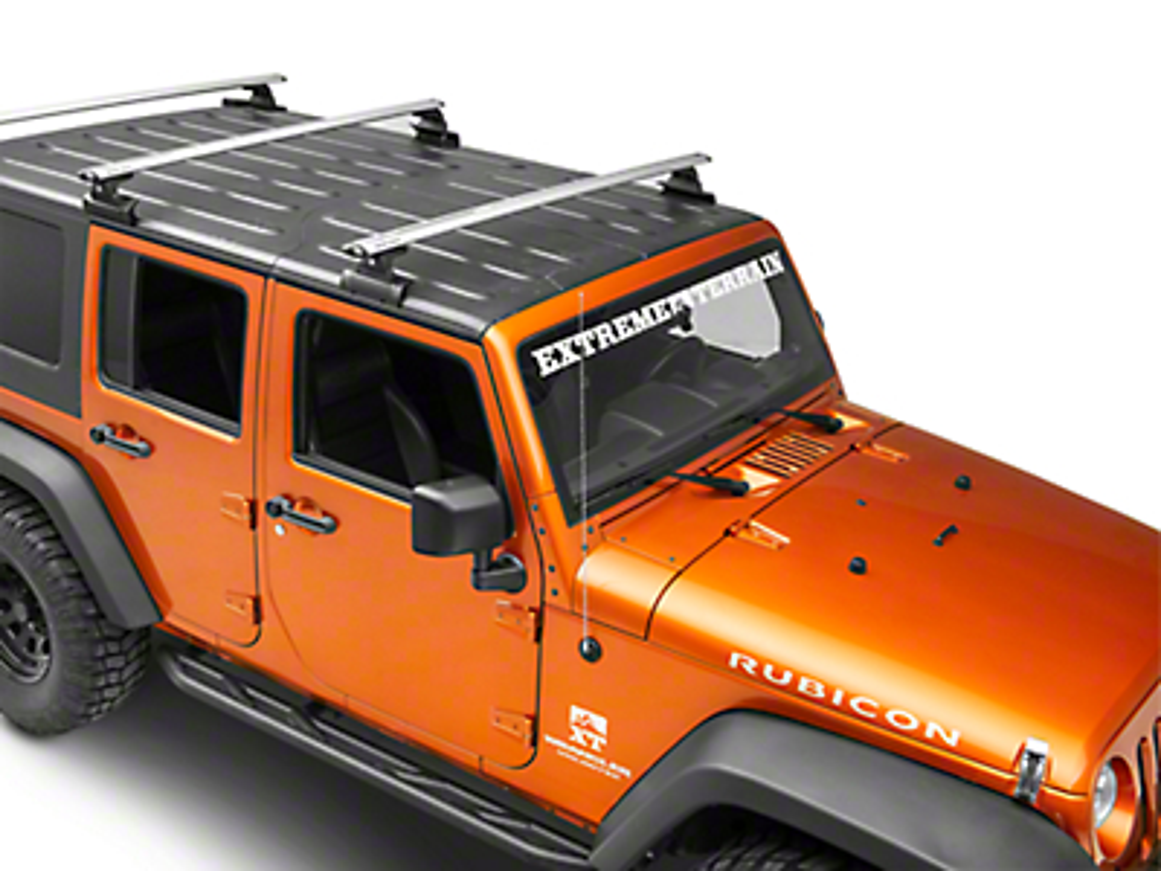Rhino-Rack Vortex RLT600 3-Bar Backbone Roof Rack - Silver (07-18 Jeep Wrangler JK 4 Door)