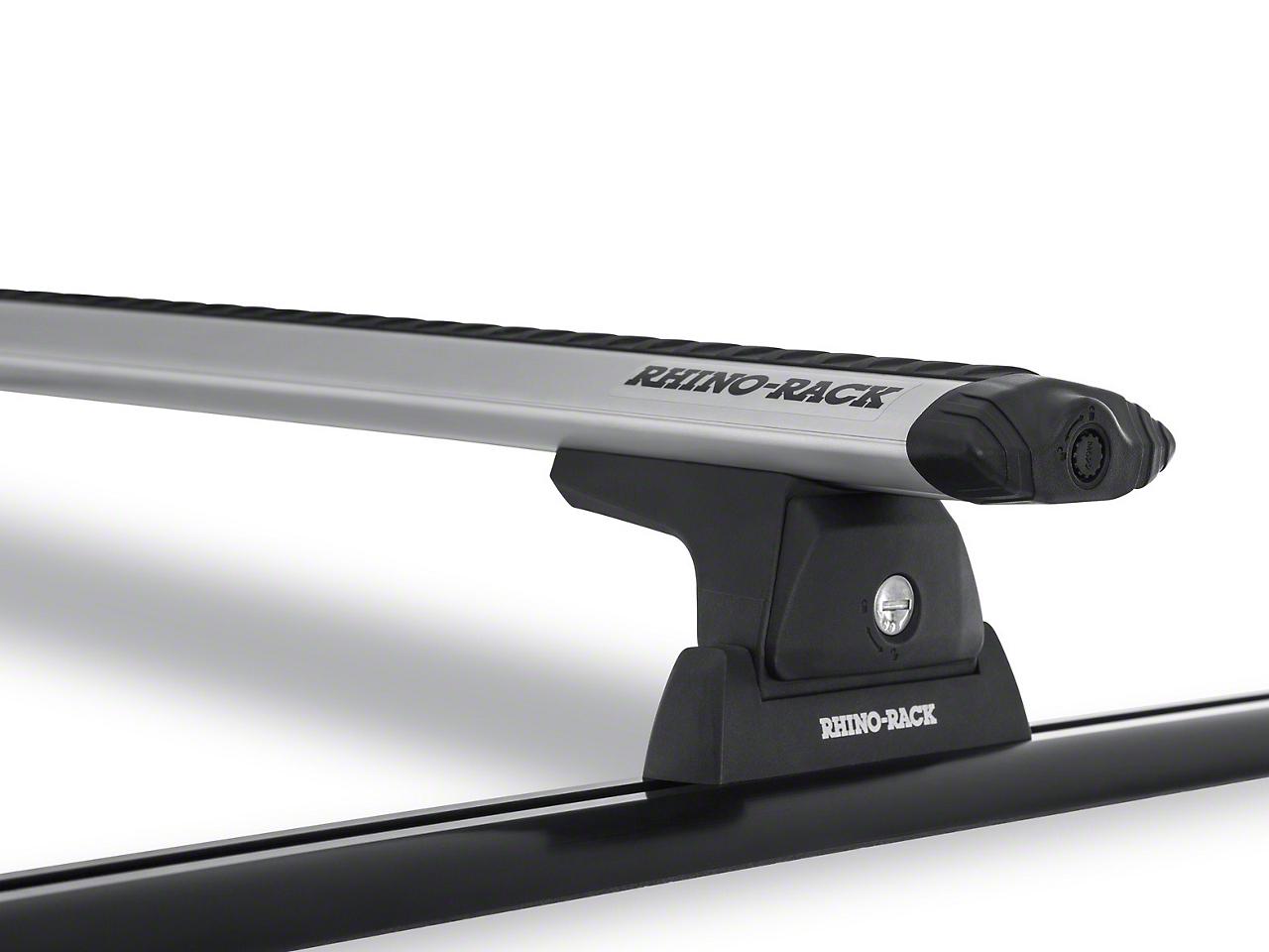 Rhino-Rack Vortex RLT600 Trackmount 2-Bar Roof Rack - Silver (11-18 Wrangler JK 2 Door)