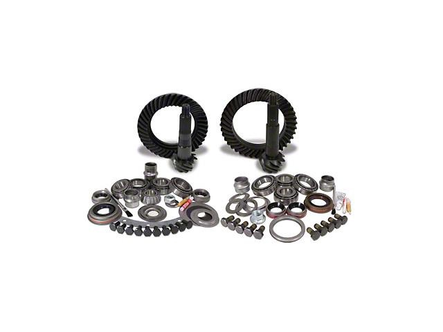 USA Standard Dana 30 Front Axle/35 Rear Axle Ring Gear and Pinion Kit w/ Install Kit - 4.56 Gears (87-95 Jeep Wrangler YJ)