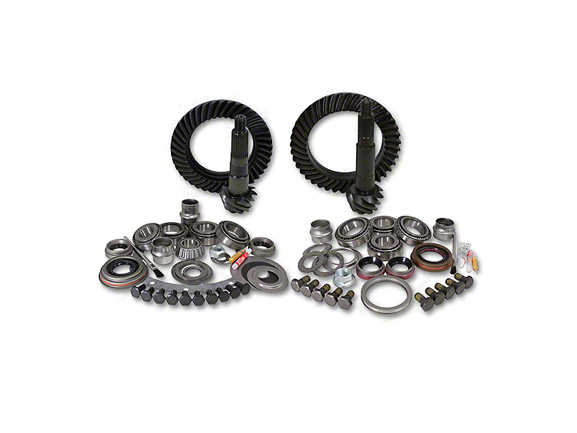 USA Standard Dana 30 Front Axle/44 Rear Axle Ring Gear and Pinion Kit w/ Install Kit - 4.56 Gears (07-18 Jeep Wrangler JK, Excluding Rubicon)