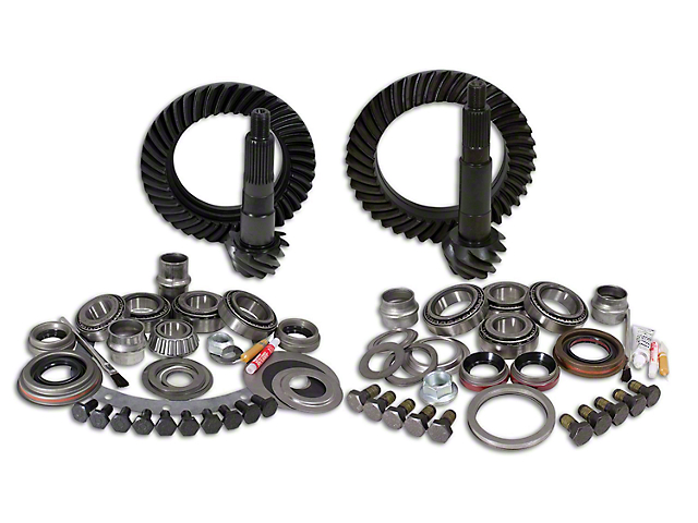 USA Standard Dana 30 Front Axle/44 Rear Axle Ring and Pinion Gear Kit with Install Kit; 4.56 Gear Ratio (97-06 Jeep Wrangler TJ, Excluding Rubicon)