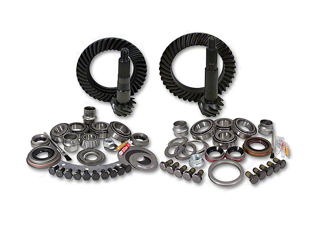 USA Standard Dana 30 Front Axle/44 Rear Axle Ring and Pinion Gear Kit with Install Kit; 4.88 Gear Ratio (07-18 Jeep Wrangler JK, Excluding Rubicon)