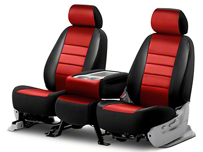 Fia Custom Fit Leatherlite Front Seat Covers - Red (03-06 Wrangler TJ)