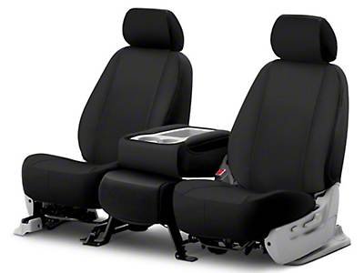 Fia Custom Fit Poly-Cotton Front Seat Covers - Black (03-06 Wrangler TJ)