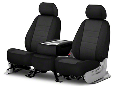 Fia Custom Fit Tweed Front Seat Covers - Charcoal (07-18 Jeep Wrangler JK)